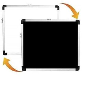 Non-Magnetic Hanging Whiteboard and Blackboard Double Sided Board, Chalkboard for Kids, Lightweight Aluminium Frame,